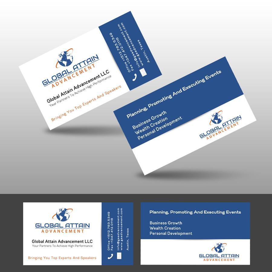 Global Attain Advancement Business Card Design – Austin Tx Web