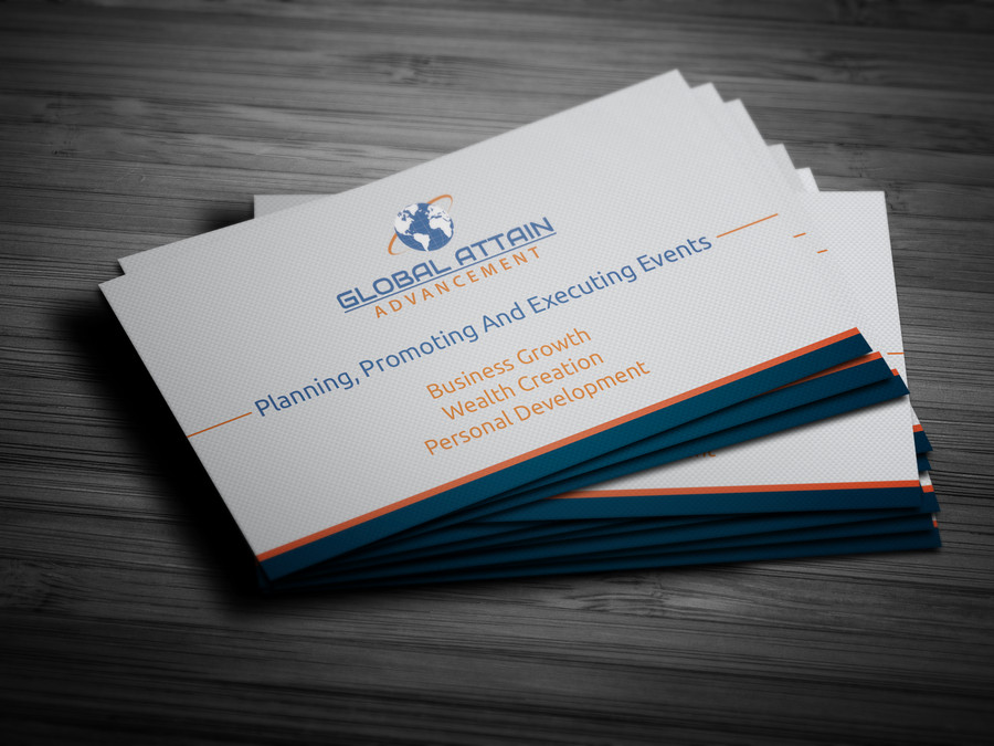 Global Attain Advancement Business Card Design – Austin Tx Web