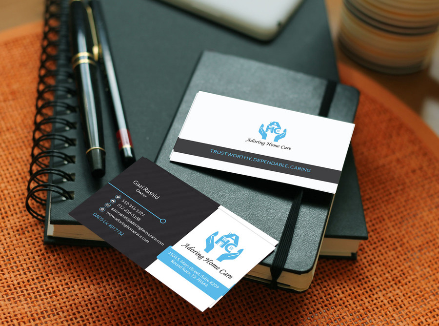 adoring home care business cards first drafts austin tx web (9 ...