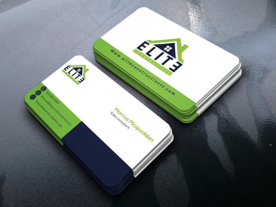 Elite Construction Business Card Design – Austin Tx Web