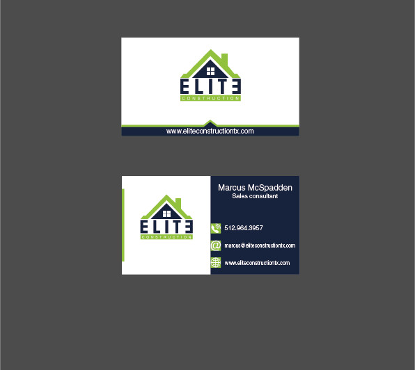 Elite Construction Business Card Design – Austin Tx Web