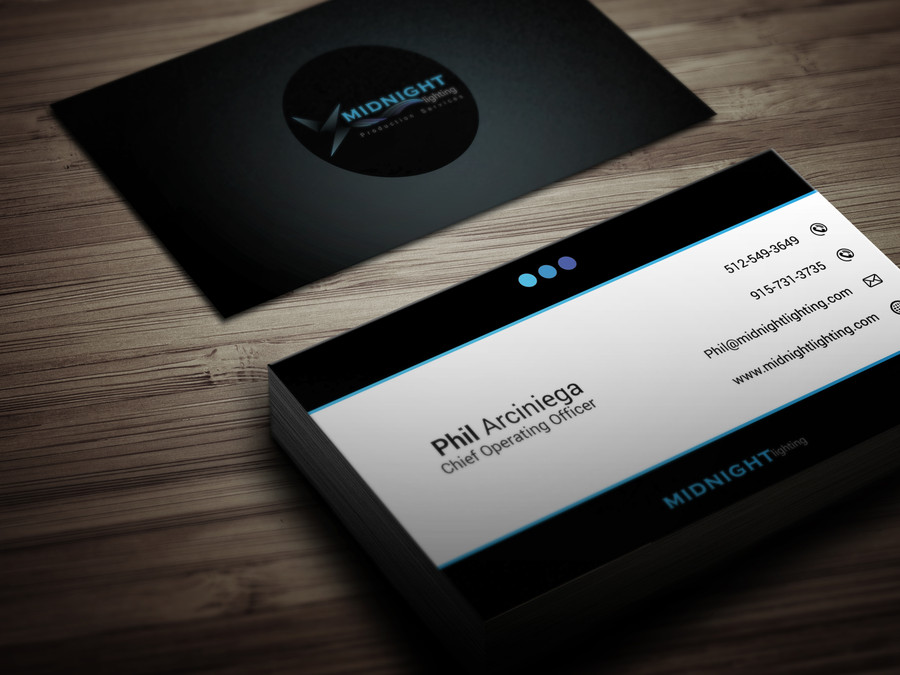 Midnight Lighting Business Card Design – Austin Tx Web