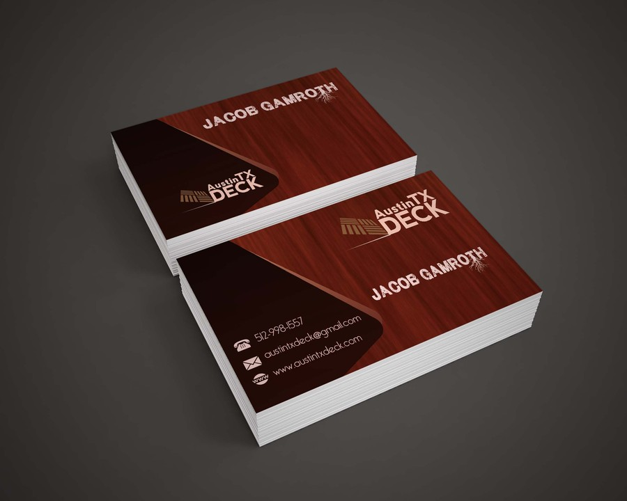 Deck Company Business Cards 24 – Austin Tx Web