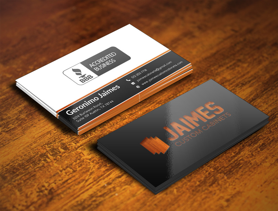 Jaimes Custom Cabinets Business Cards First Draft (9